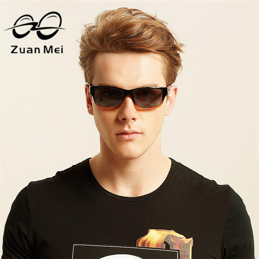 2018 New Zuan Mei Brand Sunglasses Men Polarized Carbon Fiber Color Gradient Sun Glasses For Women Unisex With Original Box