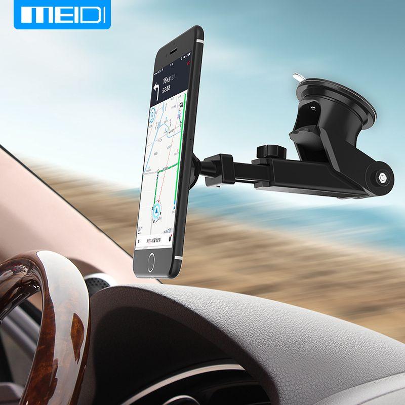 MEIDI support pour téléphone dans la voiture support de montage de pare-brise 360 support de téléphone réglable pour iPhone7 6S GPS Suporte Movil voiture