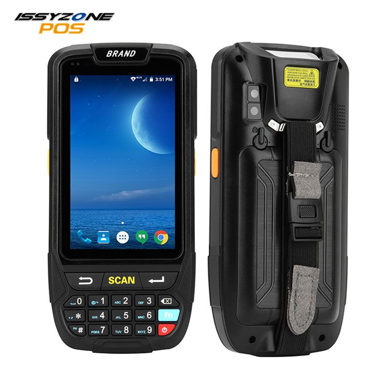 IssyzonePOS PDA Terminal 1D 2D Barcode Reader Android 7 Data Collector Wifi Bluetooth for Inventory Management Warehouse System