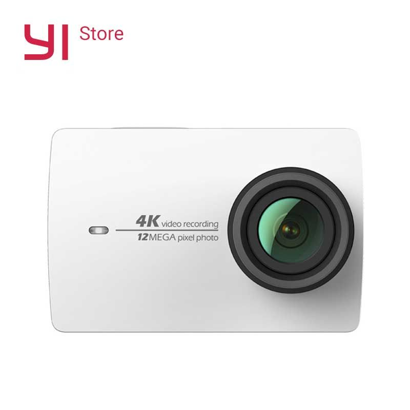 YI 4K Action Camera White <font><b>2.19</b></font>LCD Tough Screen 155 Degree EIS Wifi Black International Edition Ambarella A9SE75 12MP CMOS