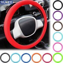 Leather Texture Car Auto Silicone Steering Wheel Glove Cover Soft Multi Color Universal Skin Soft Silicon Steering Wheel Cover
