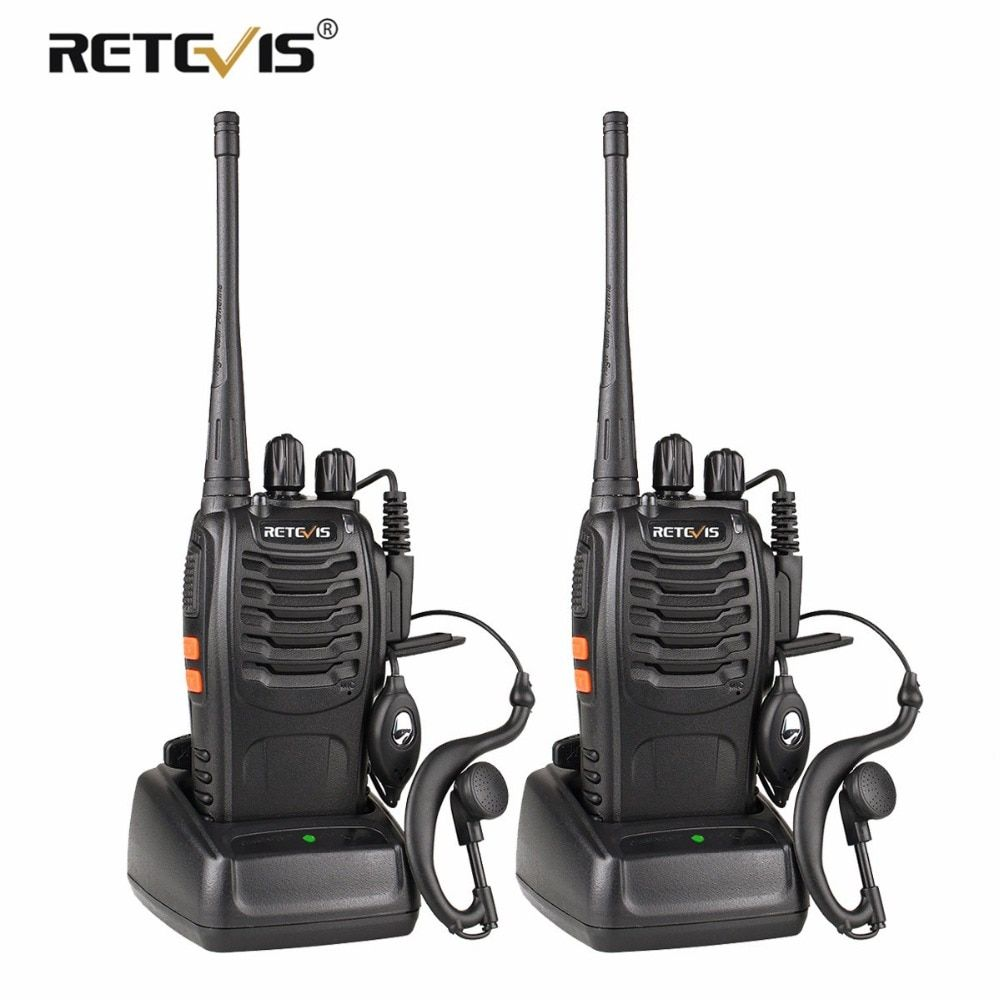 2 pièces Retevis H777 Talkie Walkie UHF 400-470 MHz Ham Radio Hf Émetteur-Récepteur Radio Bidirectionnelle Communicateur USB de charge Walkie Talkie
