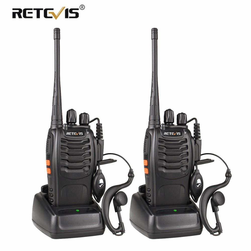 2 pièces Retevis H777 Talkie Walkie UHF 400-470 MHz Ham Radio Hf Émetteur-Récepteur Radio Bidirectionnelle Communicateur USB de charge Walkie Talkie