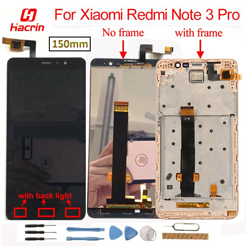 LCD Screen For Xiaomi Redmi Note 3 Pro LCD Screen+Touch Display with Soft-key Backlight LCD Display for Redmi Note 3/Prime 5.5'