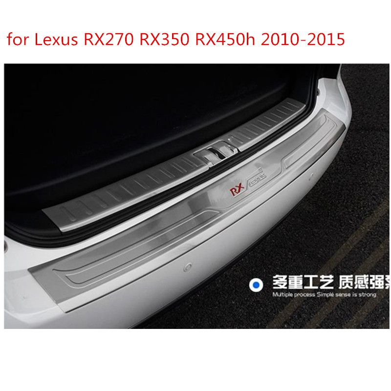 Top Quality! 304 Stainless Interior and Exterior Rear Bumper Protector Trunk Lid cover for lexus RX 450h 350 270 2010-2015