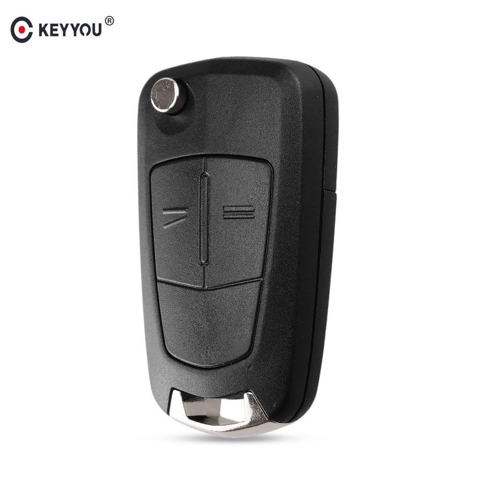 KEYYOU 2 Tasten Flip Remote Klapp Auto Schlüssel Abdeckung Fob Fall Shell Styling Fall Für Vauxhall Opel Corsa Astra Vectra signum