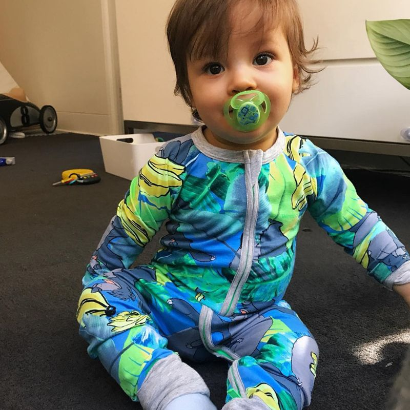 Rare Baloo Banana Wondersuit Printed Long Sleeve Baby Boy Girl Clothes Cotton Jumpsuit Tiny Cottons Baby Rompers Newborn