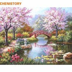 Chenistory féerie romantique bricolage peinture by numéros toile peinture home decor peint à la main mur art photo de mariage décoration