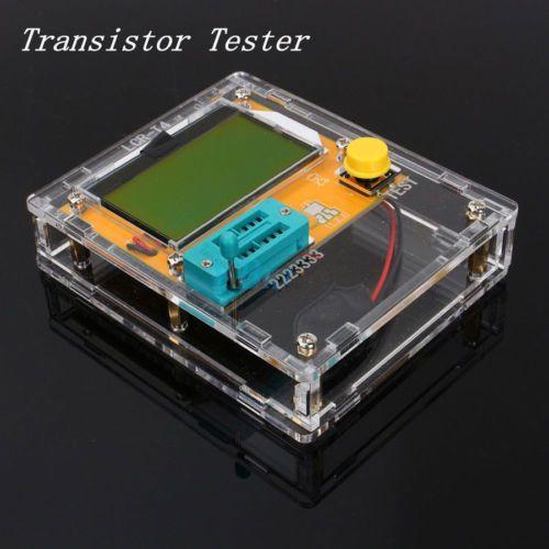 Pocketable 12864 Transistor Tester Capacitance ESR Diode Triode Triac MOS Meter