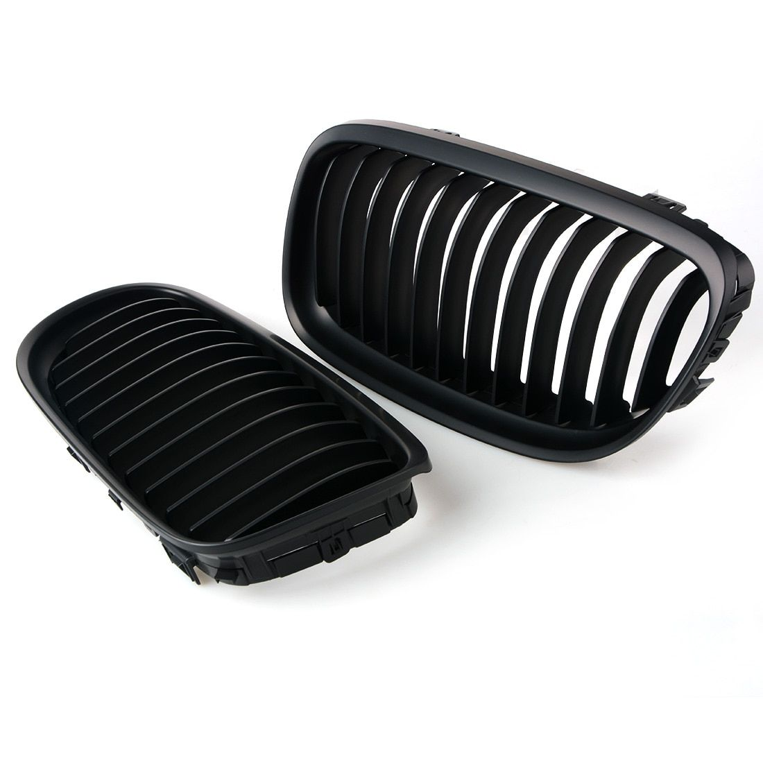 1 Pair Car styling Grill for BMW 3-serise E90 LCI Sedan Matte Black Front Kidney Racing Grille Grills 09-11