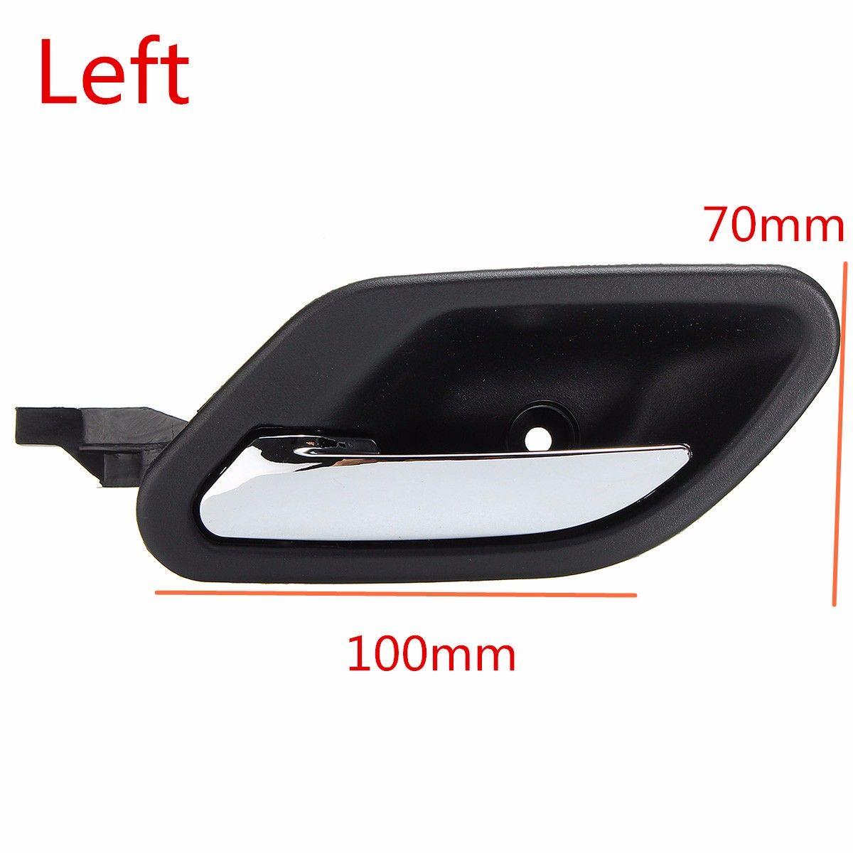 Black Inside Interior Chrome Door Handle Trim Front Left Side Rear For BMW E38 E39 5/7 Series 51218226049