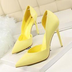 Mujeres bombas moda tacones altos Zapatos negro rosa amarillo zapatos mujer novia zapatos de la boda de las señoras