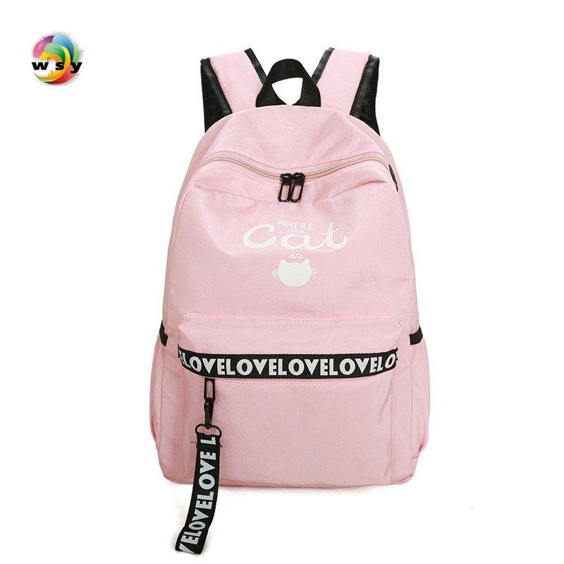 2017 Водонепроницаемый Оксфорд рюкзак розовый школьные рюкзак Сумки для подростков винтажные Mochila Повседневная Рюкзак Путешествия Рюкзак