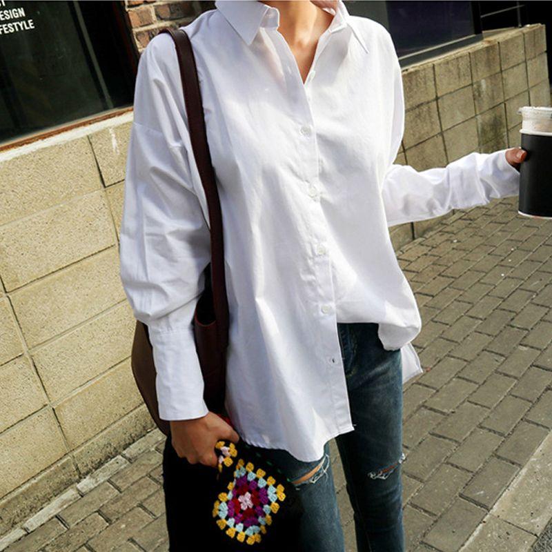 BGTEEVER femmes volants ourlet col rabattu chemises simple boutonnage mince manchette lâche Blouses décontracté hauts Blusas 2018 été