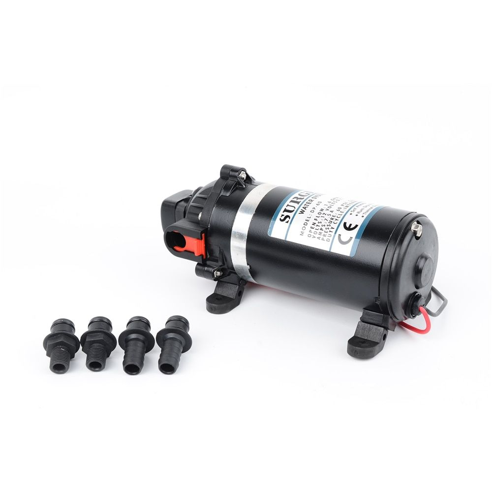 DC 12V/24V 126W 160PSI 11Bar lift 9.5m Portable Miniature Electric High Pressure Diaphragm Pump Household Water Pumps DP-160