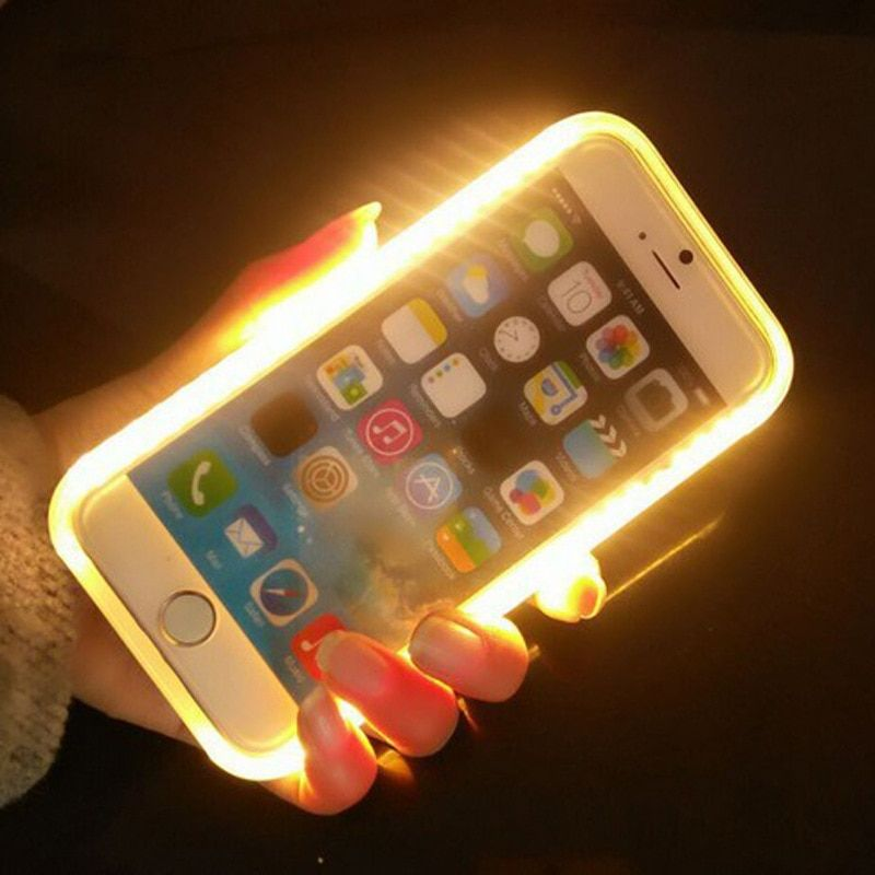 Interesting Glow Phone Case For iPhone X XS 8 Plus, Photo Fill Light for iPhone 6 6s 7 7plus Selfie for iphone 5 5S