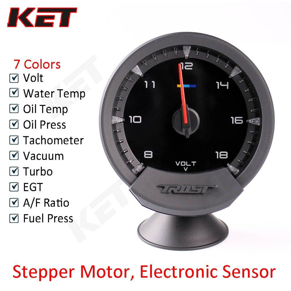 GReddi Sirius Meter Series Trust 74mm 7 colors Auto Gauge Volt Water Temp Oil Temp Oil Press RPM Vacuum Turbo EGT A/F Ratio Fuel