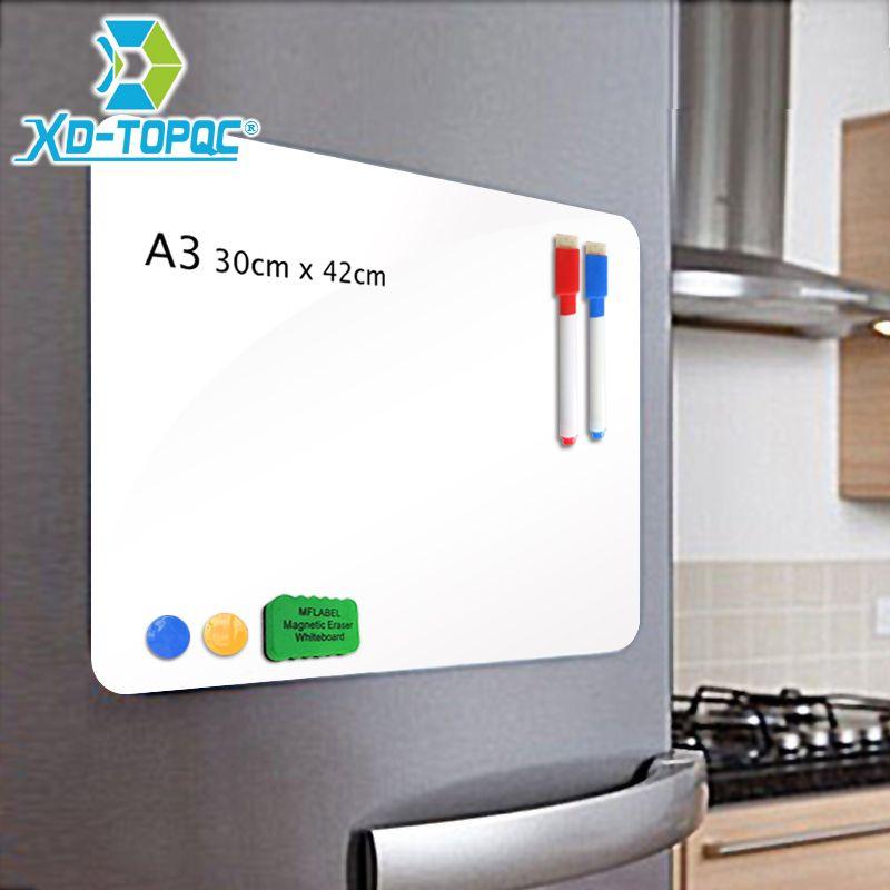 XINDI A3 30*42 cm Flexible Réfrigérateur Aimants Tableau Blanc Étanche Enfants Message Planche à Dessin Magnétique Réfrigérateur Mémo Pad FM02