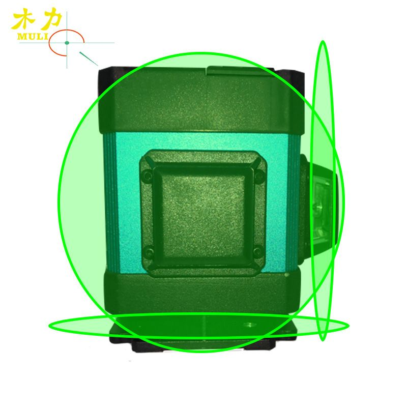 muli Green Light 3D12 Line Level Paving Tile Grounding Instrument Decor Measurement Horizontal Line Height 7mm Remote Control