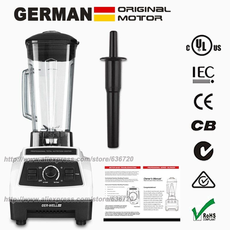 EU/US/UK/AU Plug GERMAN Original Motor professional Blender, smoothies juicer, Food Processor with BPA FREE Blender Jar(64 oz)