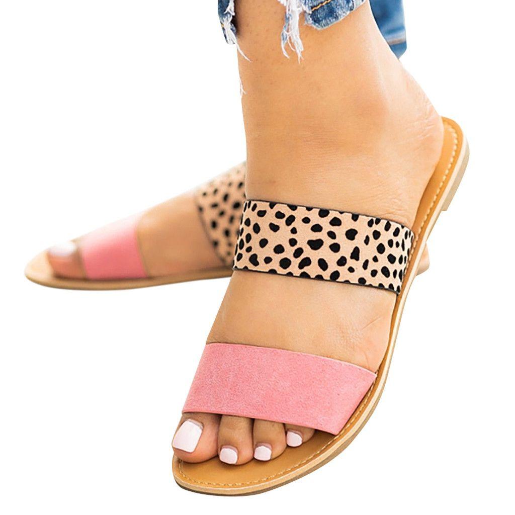 2019 neue Stilvolle Weibliche-schuhe Casual Monochrome Vintage Römischen Plus-größe Flache Hausschuhe Sandalen Schuhe Sapatos novos senhoras