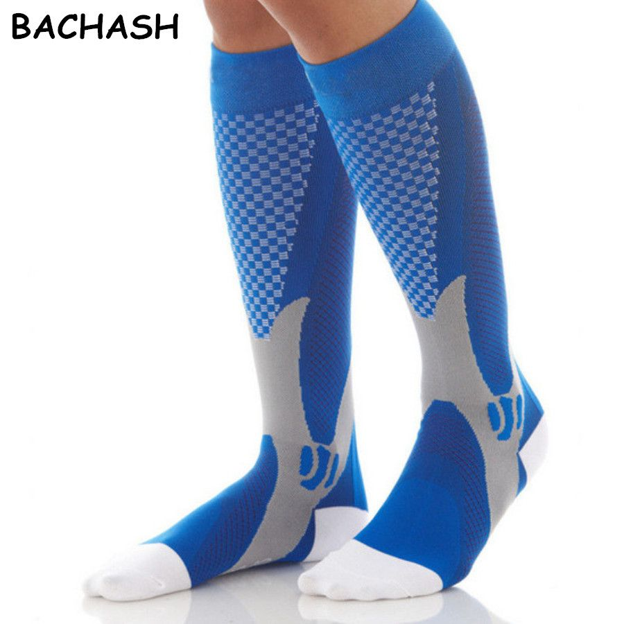 BACHASH 20-30 mmHg Graduated Compression Socks Firm Pressure Circulation Quality Knee High Orthopedic Support Stocking Hose Sock