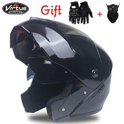 2018 nuevo tirón Racing casco modular doble lente moto rcycle casco seguro casco capacete Casque moto S M l XL