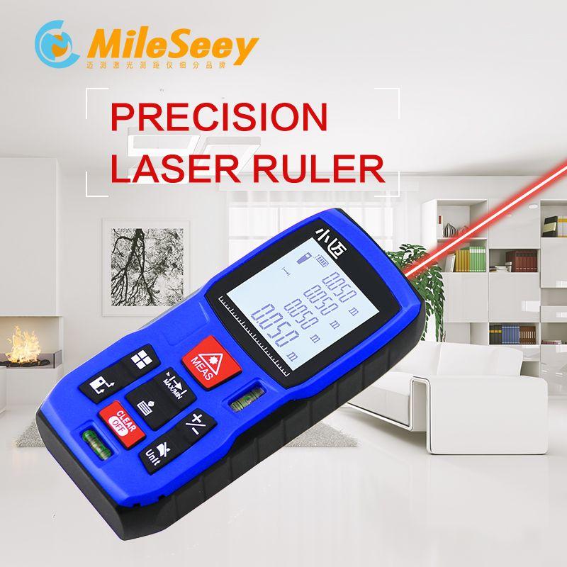 Mileseey Mini Digital laser <font><b>distance</b></font> Meter trena laser Tape measure Diastimeter tester tool 100M-80M--60M-40M Laser Rangefinder