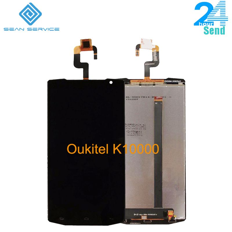 For original Oukitel K10000 LCD Display and TP Touch Screen <font><b>Digitizer</b></font> Assembly lcds +Tools 5.5 Oukitel K10000 Android Quad Core