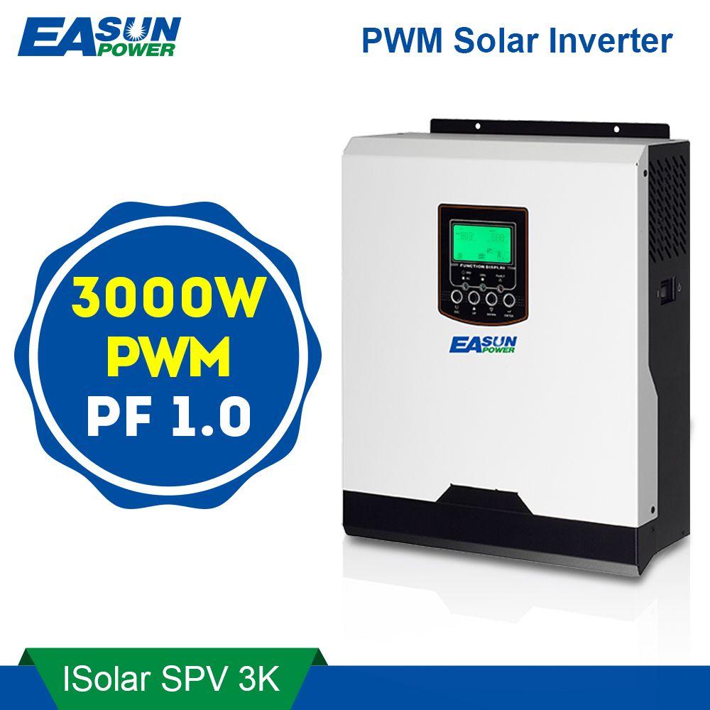 EASUN POWER PWM Solar Inverter 3000W 24V 220V 50A PWM Pure Sine Wave Inverter 3Kva 50Hz Off Grid Inverter 25A Battery Charger