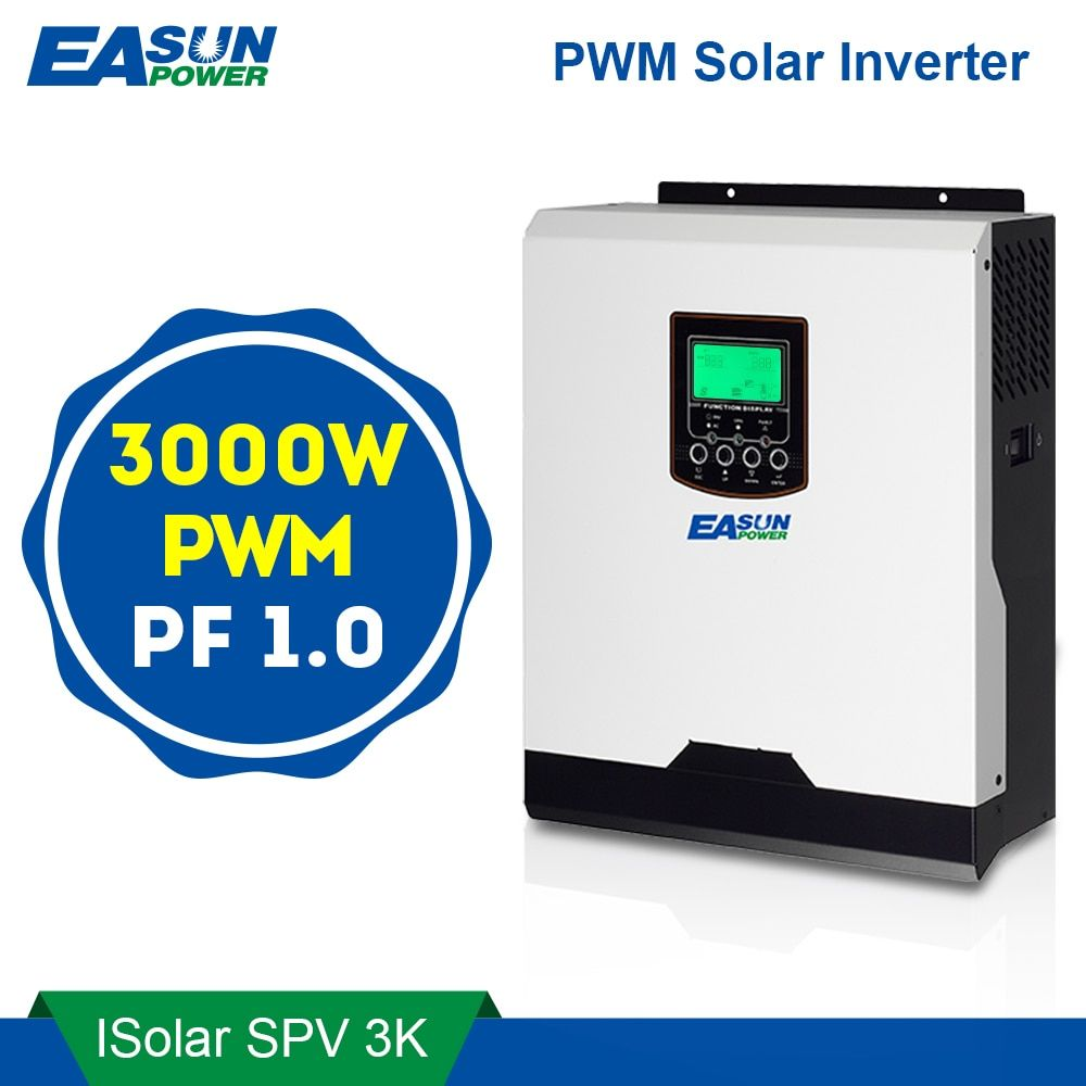EASUN POWER PWM Solar Inverter 3000W 24V 220V 50A PWM Pure Sine Wave Inverter 3Kva 50Hz Off Grid Inverter 25A Battery Charger
