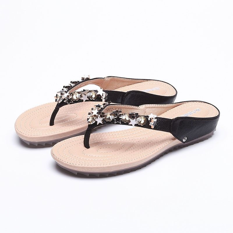 9102P Female cool summer new fashion beach shoes han edition joker five-pointed star wears outside