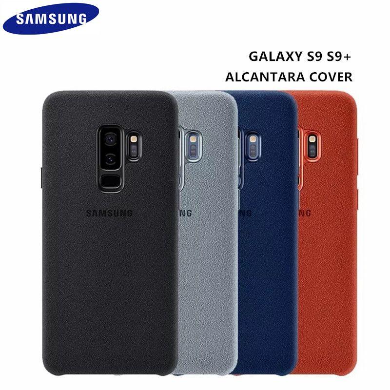 100% D'origine Samsung Galaxy S9 S9 plus S9 + G960 G965 Anti-Chute En Cuir ALCANTARA Couverture Anti-frapper cas EF-XG960 4 couleur