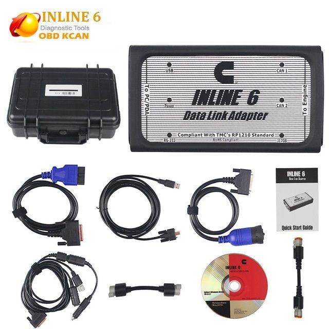 INLINE 6 Datenverbindung-adapter Hochleistungsdiagnosewerkzeug Scanner Volle 8 kabel Lkw diagnoseschnittstelle inline6 inline 5