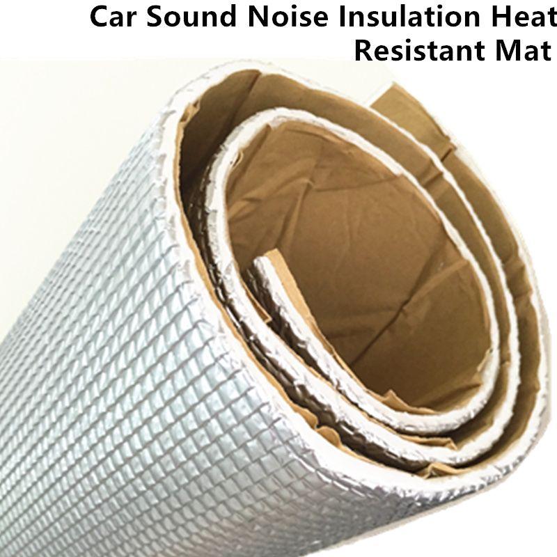 Voiture Audio Insonorisant De Contrôle des Vibrations Preuve Feuille D'aluminium Coton D'isolation thermique Tapis Porte Toit Tronc Capot Auto-Adhésif