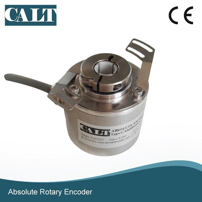 CALT 12 Bit high resolution 10mm blind hollow shaft Modbus Absolute encoder CAS60H12E10RMB