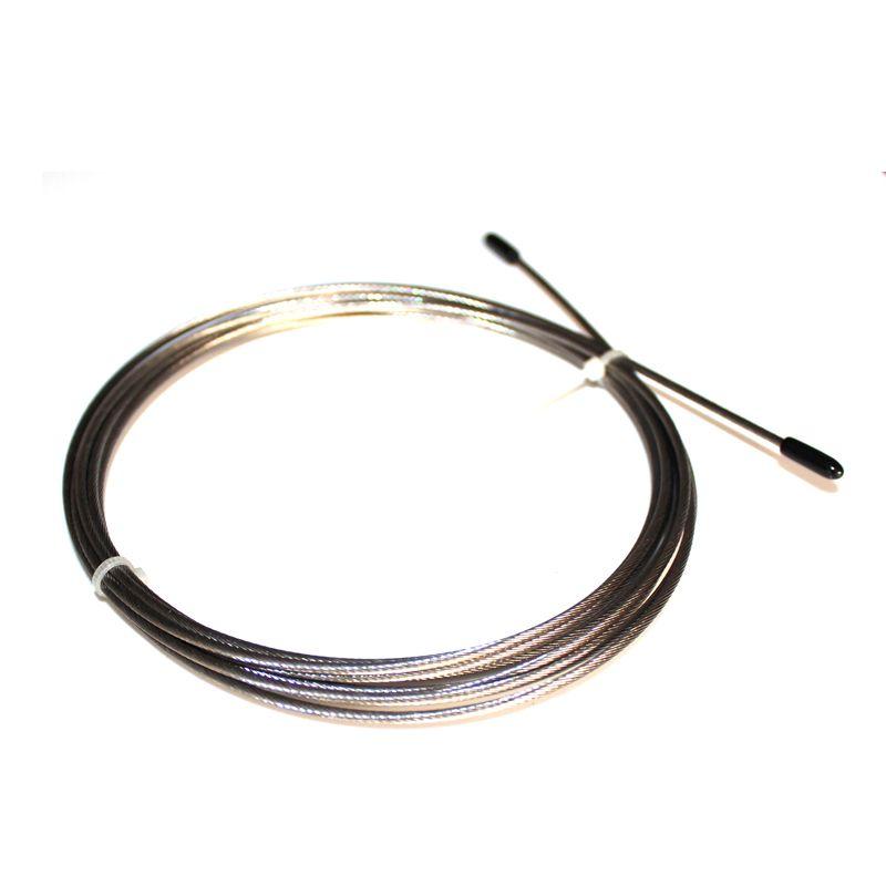 Câble remplaçable de 2.0mm de diamètre/3 M de Long aucun PVC enduit pour la corde à sauter de vitesse de JR25