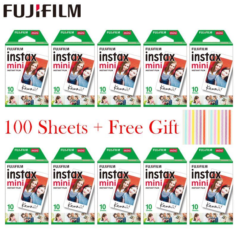 20-100 feuilles Fujifilm Instax Mini Film blanc papier Photo instantané pour Instax Mini 8 9 7 s 9 70 25 50 s 90 appareil Photo SP-1 2 appareil Photo