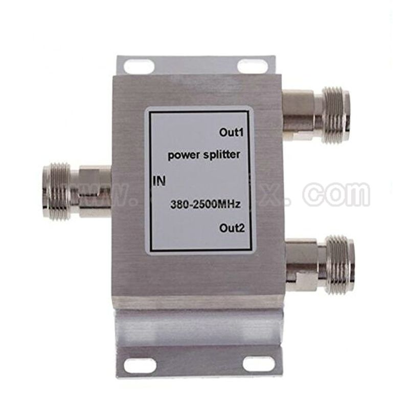 RF Coaxial Splitter 1 to 2 Way Power Splitter 380-2500MHz Signal Booster Divider N female 50ohm Free shipping