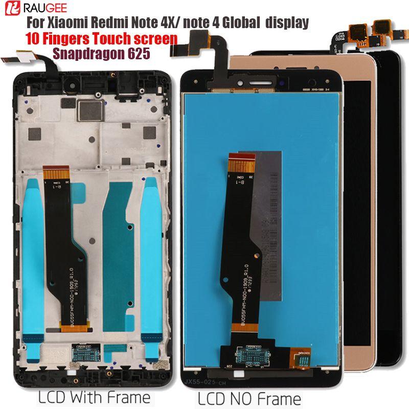 Pour Xiaomi Redmi Note 4X/4 Mondial écran tactile lcd remplacement de l'écran pour Xiaomi Redmi Note 4 Snapdragon 625 Octa Core 5.5''