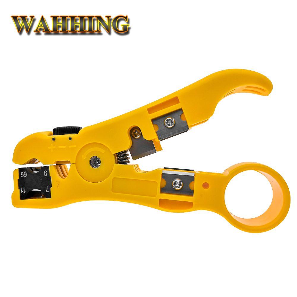 Rj45 ethernet Câble À Dénuder Électrique Décapage Outils rj45 cuting Sertisseur Pinces pour UTP STP RG59 RG6 RG7 RG11 RJ45 HY1531