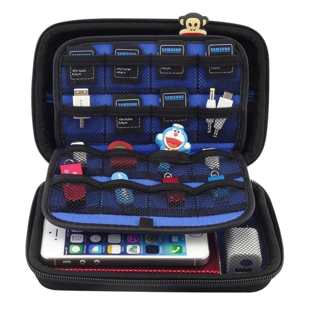 2.5 pouces SSD HDD disque dur sac écouteur câble USB lecteur Flash voyage étui numérique sac pour Nintendo New 3DS XL/3DS