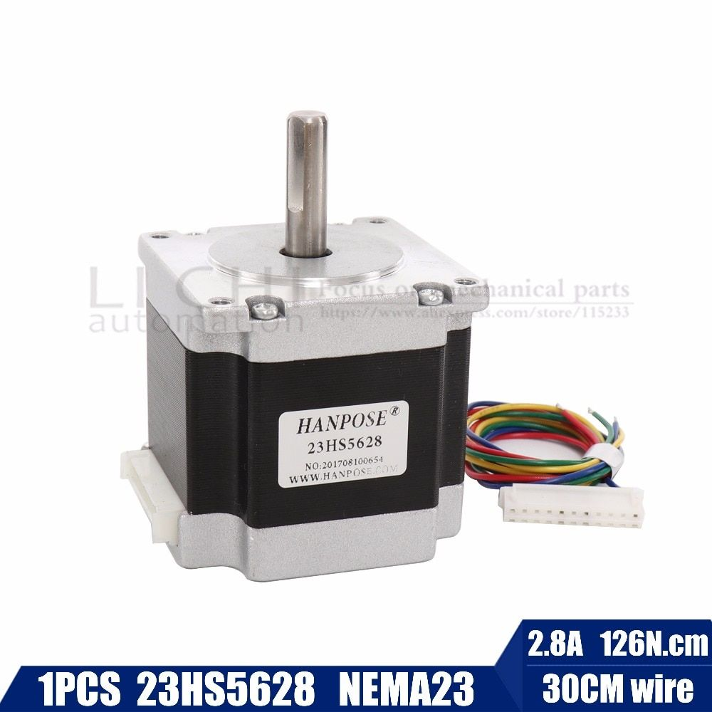 Free shipping 4-lead Nema 23 23HS5628 Stepper Motor 57 motor 165 Oz-in 56mm 2.8A diame CNC Laser Grind Foam Plasma Cut
