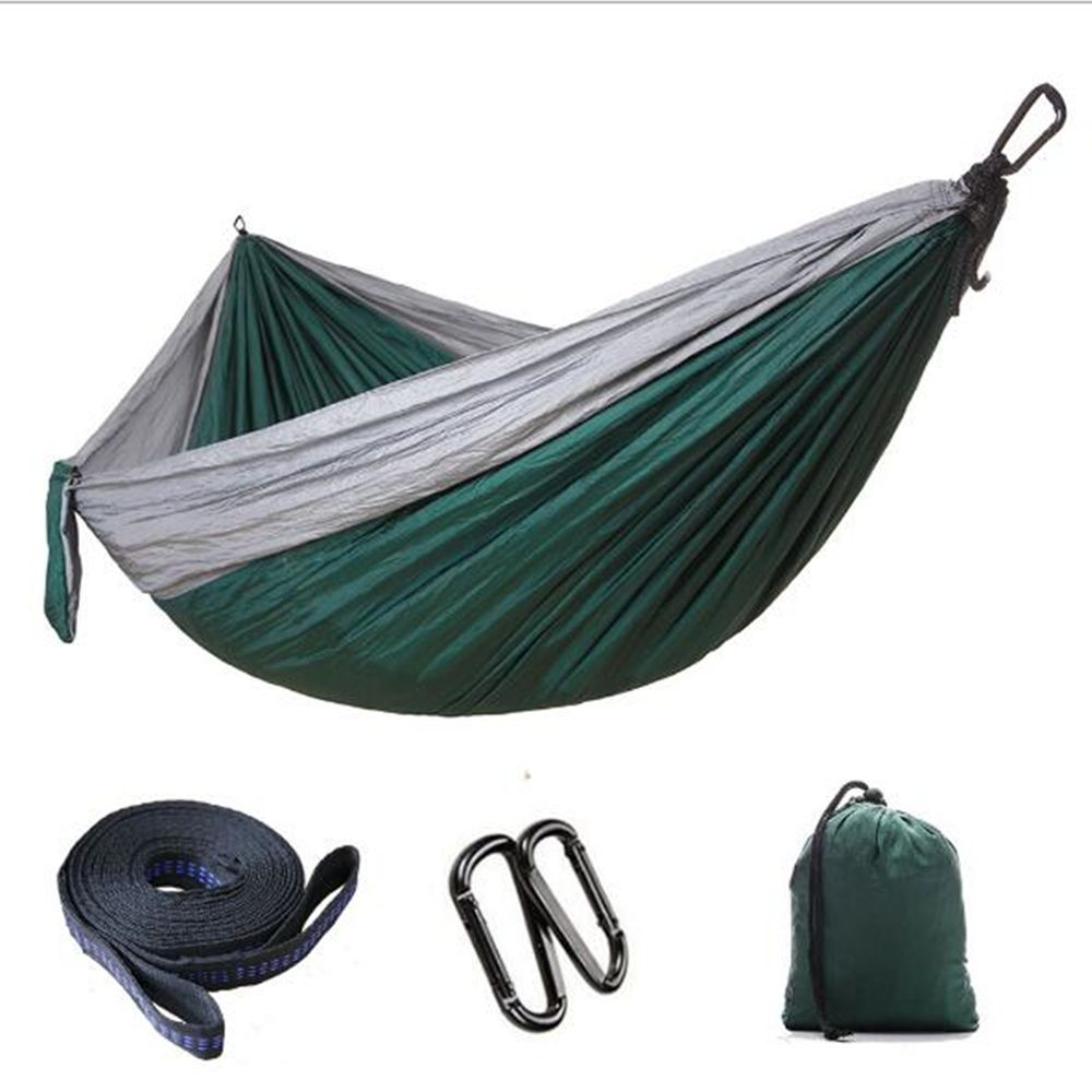 2 Double Person Parachute Camping Hammock Survival Garden Hunting Leisure Travel Double Person Hammocks Garden Sofa