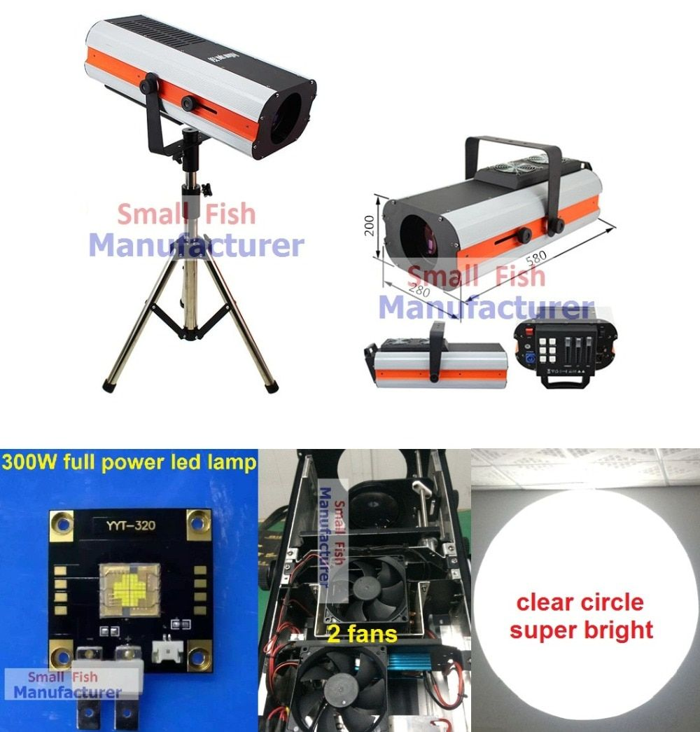 2016 New 300W Led Follow Spot Light Replace 2500W Following Light Color Gobo IRIS Wedding Decoration Performance Stage Lighting