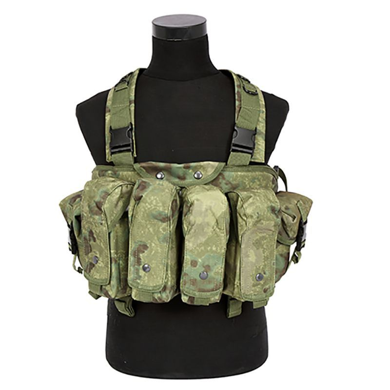 Outdoor AK 47 Magazin Träger Kampf Military Camouflage Taktische Weste Airsoft Ammo Chest Rig BP43