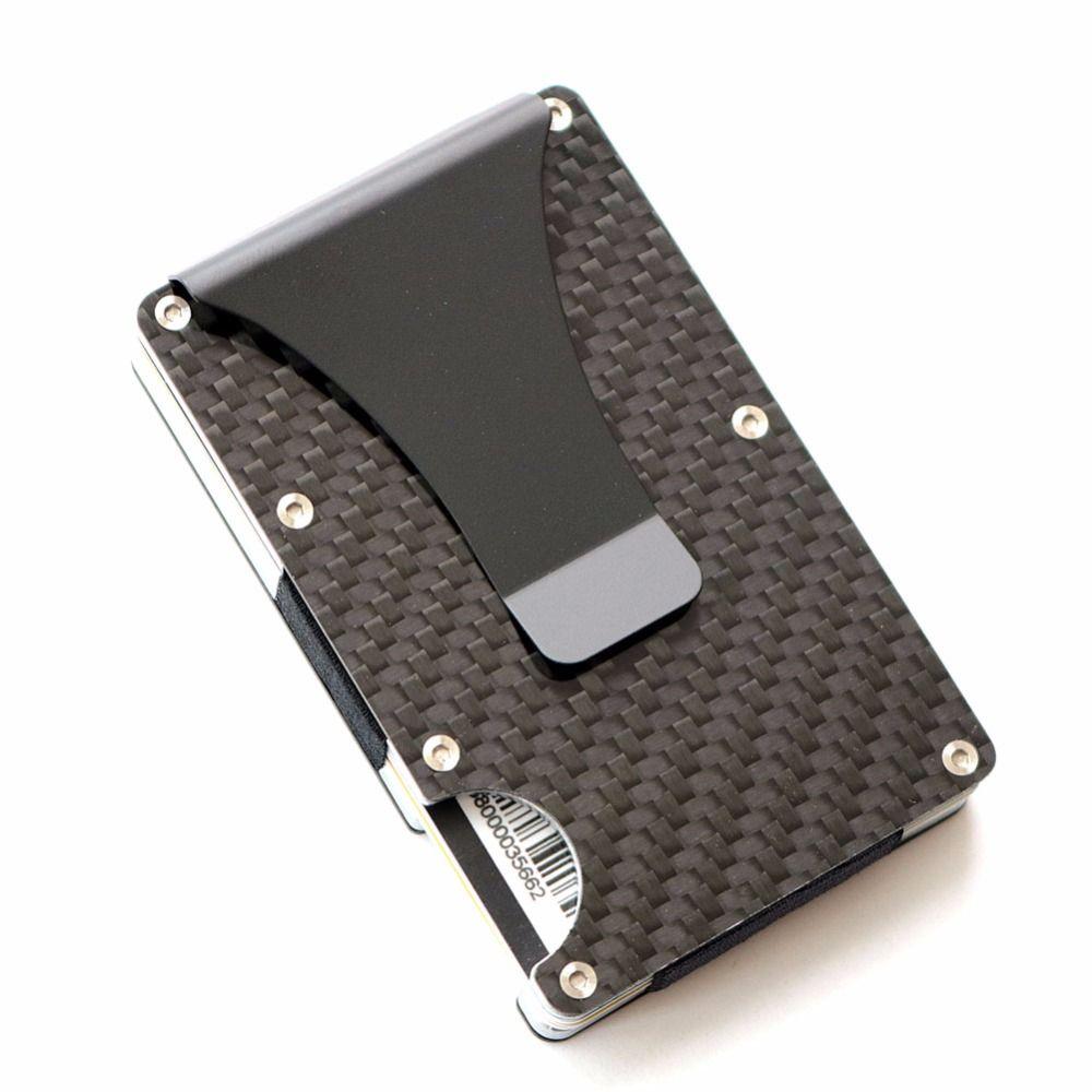 2018 RFID Для мужчин и Для женщин минималистский металла Женские Кошельки Slim Mini Бизнес держателя карты Алюминий кредитной карты протектор