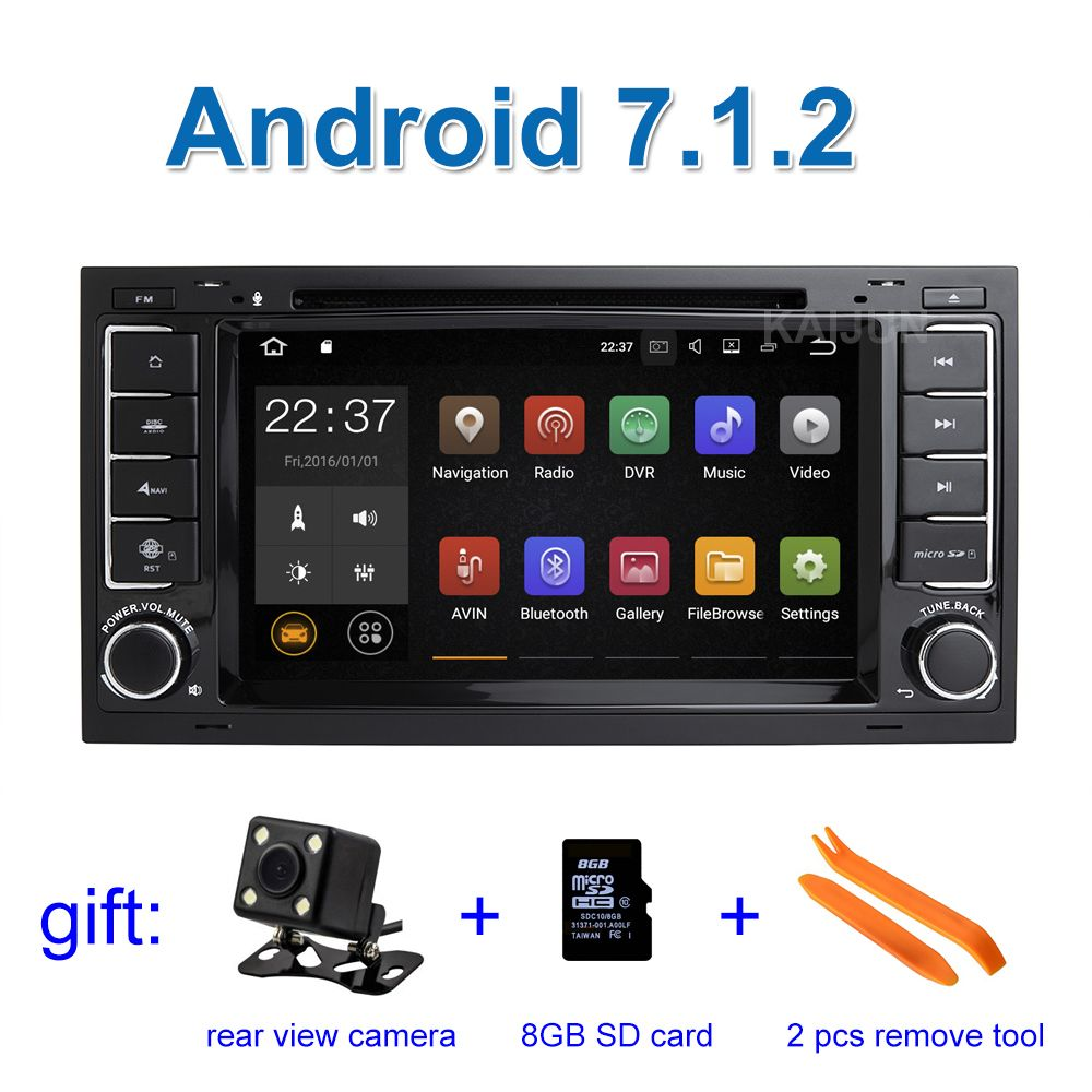 2 GB RAM Android 7.1.2 Car DVD Player for Volkswagen VW Touareg T5 Multivan Transporter with Radio WiFi BT GPS