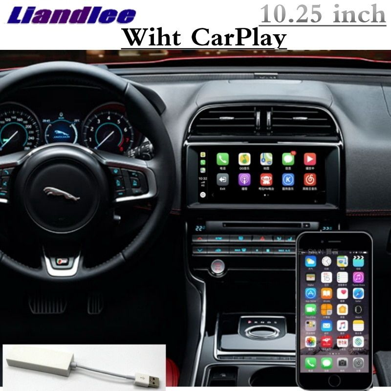 Für Jaguar XE XEL F-Tempo X760 2015 ~ 2018 Liandlee Auto Multimedia NAVI 10,25 GPS WIFI Audio carPlay Adapter Radio Navigation