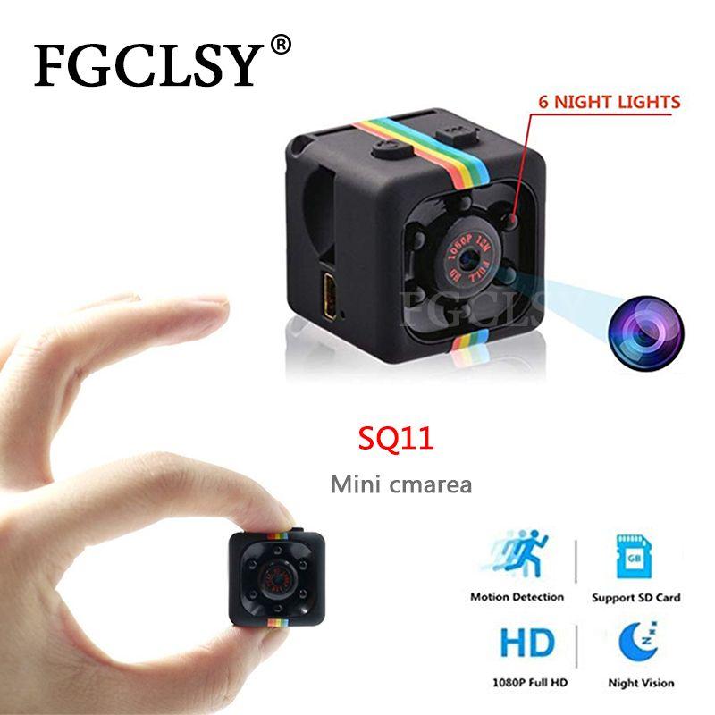 FGCLSY SQ11 Mini caméra Micro enregistreur vidéo capteur de caméra numérique Vision nocturne caméscope HD 1080 P Sport DV enregistreur de mouvement